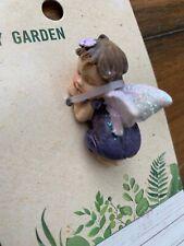 Sleeping Fairy Minarure Baby Angel Blue Dress