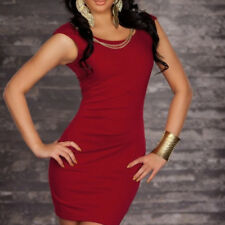 UK Sexy Womens Clothing Hip sleeveless dress sexy pure color Bodycon Party dress