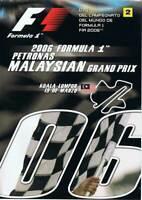 2006 Formula 1 Petronas Malaysian Grand Prix Kuala Lumpur. DVD