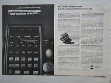 7/1975 PUB HP HEWLETT PACKARD HP-65 SCIENTIFIC CALCULATOR CALCULATRICE AD
