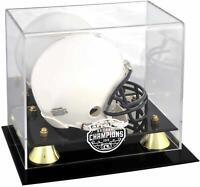 LSU Tigers CFP 2019 National Champions Golden Classic Mini Helmet Display Case
