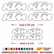 X8 PEGATINAS LOGOS KTM MOTO CASCO STICKER DECAL VINILO DE CORTE