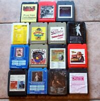 Lot of 15 1970's Eight Track Tape Cartridges - Untested