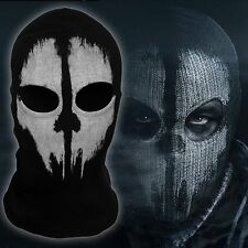GHOST 2 Hole Face Wool Mask Bandana Ski Motorbike Halloween MASK Hood - Senior