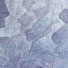 "Sequin Rectangle 1.5"" Denim Blue Jean Fabric Effect Opaque"