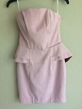 H&M Size 6 Peplum Dress Blush Pink Strapless paid $50 originally . NWT