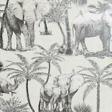 Artistick Elephant Grove Charcoal Wallpaper Peel & Stick Self Adhesive Arthouse