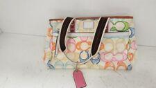 COACH Authentic Pastel Coach Hampton Signature Scribble Shoulder Handbag -F10674