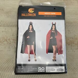 Red & Black Full Length Adult Witch Vampire Costume Cape Halloween NEW