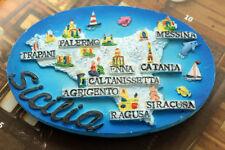 Italy Italien Sizilien Reiseandenken Souvenir 3D Kühlschrankmagnet Reise Magnet