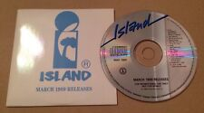 Island 10 Track UK Promo Sampler Cd Rare Early 1989 Release.