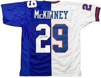 Xavier Mckinney autographed signed jersey NFL New York Giants JSA COA