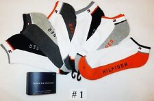 6 PACK TOMMY HILFIGER Men's Ankle Socks 6 Pairs Cotton Blend Cushion Sole - NEW