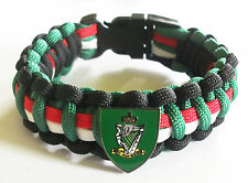 ROYAL IRISH RANGERS PARACORD WRISTBAND WITH BADGES
