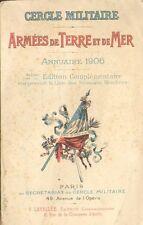 Cercle militaire Armée de terre et mer Annuaire 1906 militaria