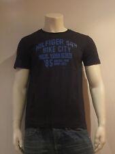 TOMMY HILFIGER Derby Ss T [ Talla S ] Camiseta Hombre Camiseta Estampada Negro
