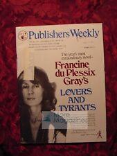 PUBLISHER's WEEKLY June 28 1976 FRANCINE du PLESSIX GRAY Sloan Wilson +++