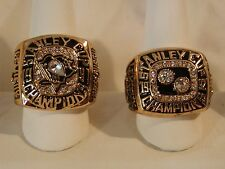 1991 & 92 Mario Lemieux Replica Stanley Cup Rings Pittsburgh Penguins A+ Quality