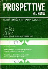 PROSPETTIVE NEL MONDO N. 52 OTTOBRE 1980