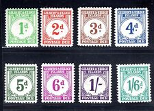 GILBERT & ELLICE ISLANDS 1949 POSTAGE DUE SET OF 8 S.G D1-8 LIGHT HINGE