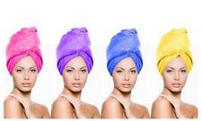 Microfibre Hair Drying Towel Wrap Turban Head Hat Bun Cap Shower Dry Microfiber Pink Medium