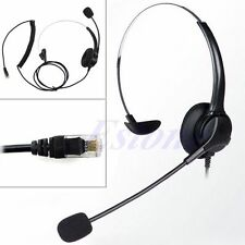 BK 4-Pin RJ11 Monaural Corded Operator Call Center Telephone Headset Headphone