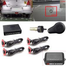 Car Parking 4 Hidden Sensors 13mm Reverse Backup Rear Radar Sound Buzzer Alarm