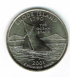 2001-D Denver XF to AU Rhode Island 13TH State Quarter Coin!