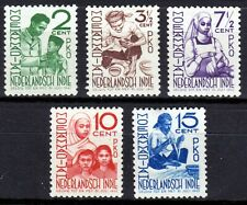 Nederlands Indië, nr. 293-297, ongebruikt, geen gom