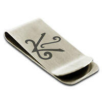 Stainless Steel Reiki Shanti Peace Slim Wallet Cash Card Money Clip