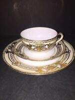 Noritake Mix Setting Of 3 Gold Patterned Pieces