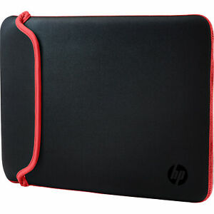"""HP Laptop Case 15.6"""" Black/Red Chroma Sleeve, Synthetic, 400 x 280 x 10mm - New"""
