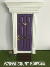"""FAIRY DOOR PURPLE WITH GOLD KEY, """"WELCOME"""" MAT, FAIRY DUST & FOOT STEP TEMPLATE"""