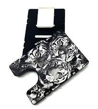 Tigers Pattern, Aluminum Wallet/Credit Card Holder, RFID Protection, Black