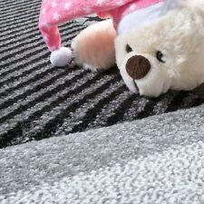 Kids Rug Stars Grey Black and White Nursery Rug Soft Children Bedroom Carpet Mat