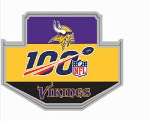 MINNESOTA VIKINGS 100TH ANNIVERSARY PIN SUPERBOWL CHAMP SUPER BOWL 2020 NFL