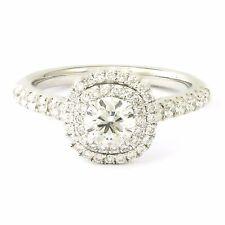 14k White Gold Double Halo Diamond Ring(new, 0.50 centre, 3.3g) #00010672