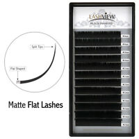 Lashview Individual Matte Ellipse Flat Eyelash Extensions 0.15 C D False Lashes