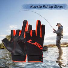 Fishing Gloves Fingerless Half Finger 3 Cut Fingers Anti-slip Mit Touchscreen
