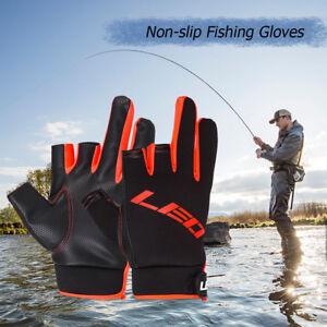 1 Pair 3 Cut Fingers Gloves For Fishing Hunting Shooting Anti-slip Waterproof