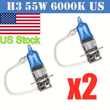 2PCS H3 12V 55W Super Bright White Halogen Head Light Lamp Bulbs Auto Car New