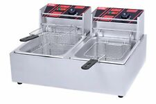 New Commercial Electric Deep Fryer Twin Basket 6L Each