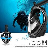 Full Face Mask Swimming Underwater Diving Snorkel Scuba For GoPro Glass Anti-Fog