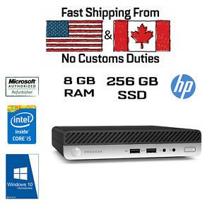 HP ProDesk 400 G3 USFF Tiny, i5-7500T, 8GB RAM, 256GB SSD, HDMI, DVI, Win10Pro