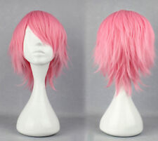New Fashion Short Pink Straight Women's Lady's Cosplay Party Hair Wig Wigs + Cap