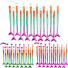 15Pcs Mermaid Beauty Makeup Brushes Set Eyebrow Eyeshadow Lip Soft Brush Kit