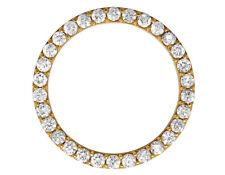 Gold Prong Set Diamond Bezel for Rolex Day-Date Datejust President 36mm 4.5 Ct