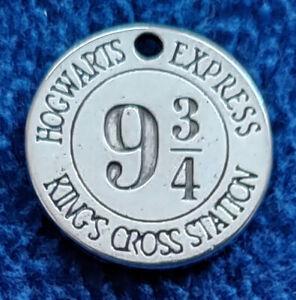 Harry Potter: Gleis 9 3/4 Hogwarts Express - kleine Medaille für Schmuck / Kette