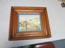Signed C. Carson SIGNED PAINTING HOT AIR BALLOON BALL GAME GRISTMILL
