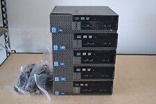 Lot 5 Dell Optiplex 7010 USFF Intel Core i3-2120 3.20GHz-4GB Ram-320GB Win 7 Pro